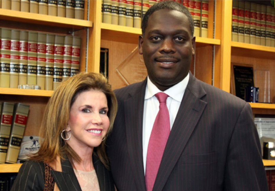 Lisa Blue and Craig Watkins in his office when he was district attorney