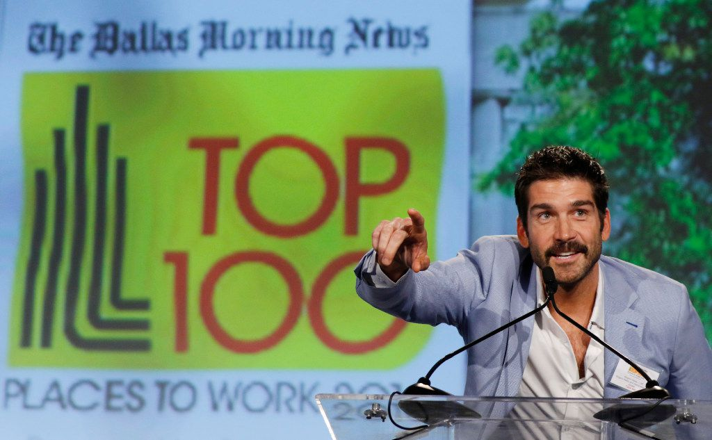 Rogers Healey of Rogers Healey & Associates Real Estate spoke after accepting the award for No. 2 Small Company at the Top 100 Place to Work luncheon at the Dallas Omni Hotel in November.