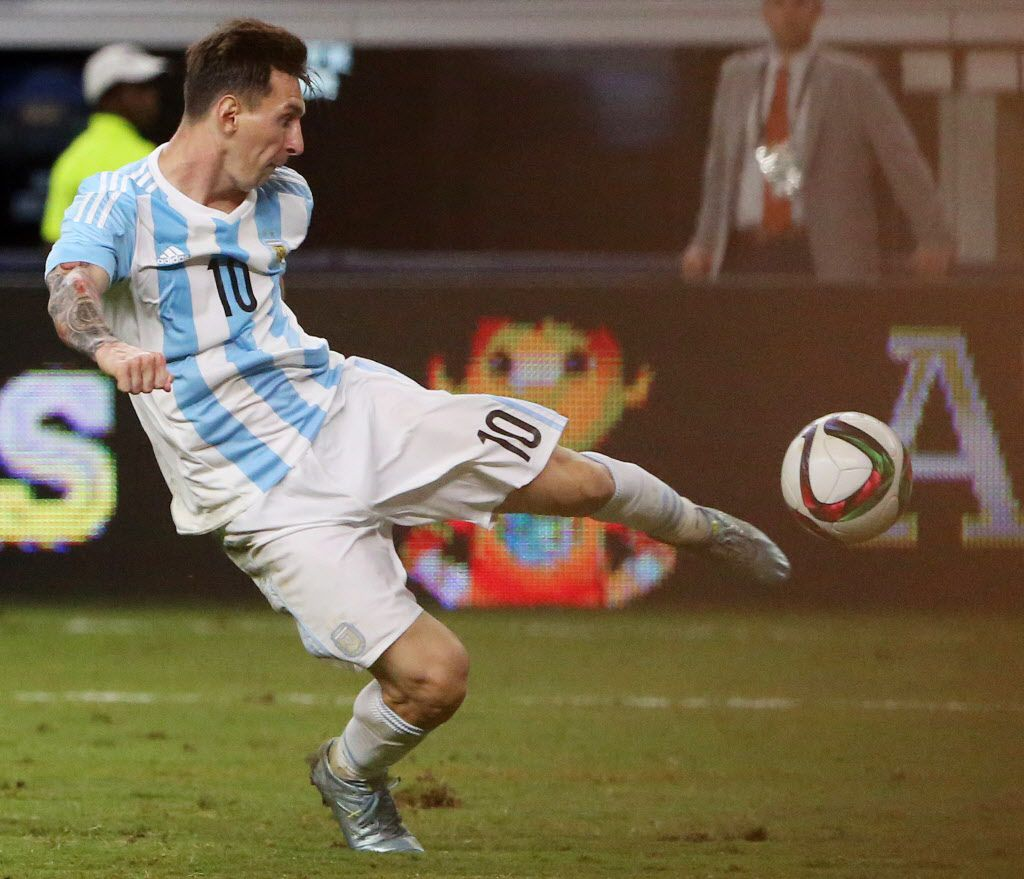 Lionel Messi en 2015 en Arlington. (Andy Jacobsohn/The Dallas Morning News)