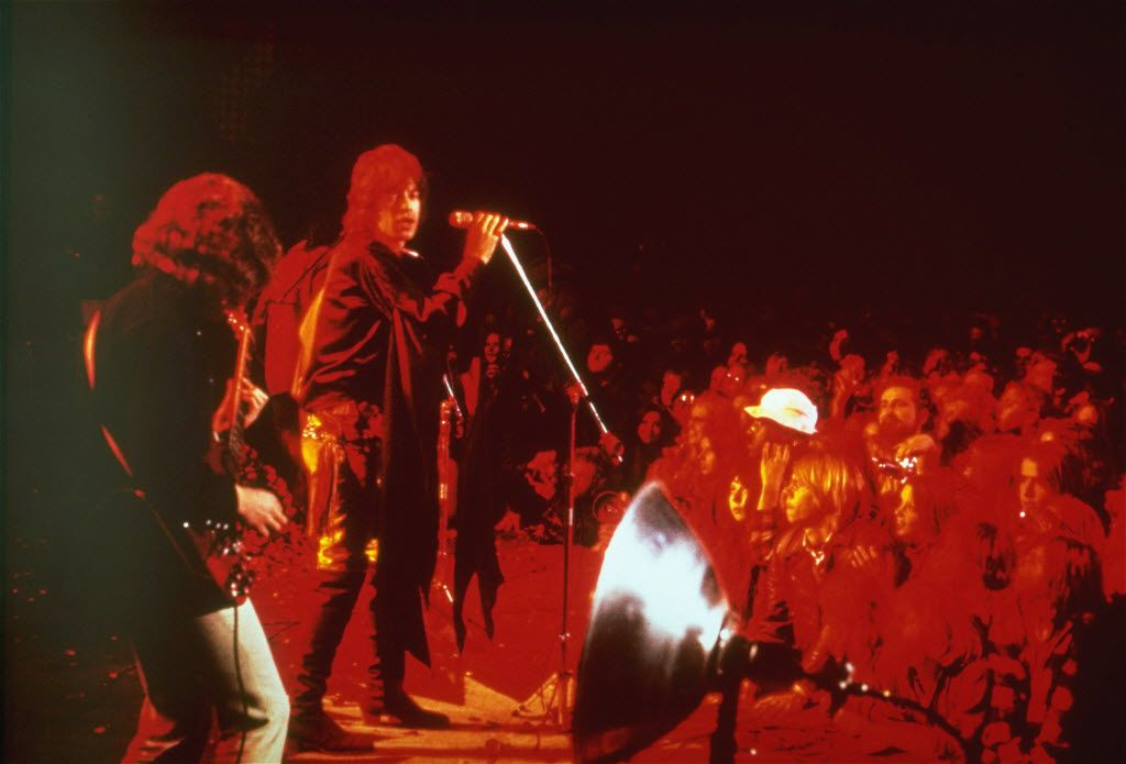 """The Rolling Stones perform """"Gimme Shelter""""  at the Altamont Speedway in California. (1969 File Photo/The Associated Press)"""
