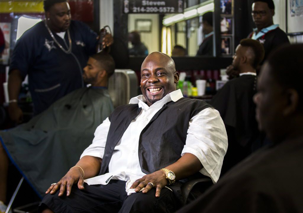 Barber Charles Battle works at Trendz Barber Shop inside Southwest Center Mall and says he often gives his clients unsolicited advice about how to interact with police.