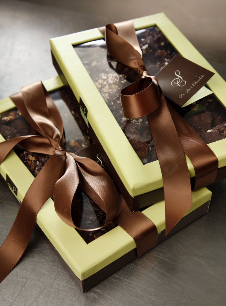 Various packages of Dr. Sue's Chocolates