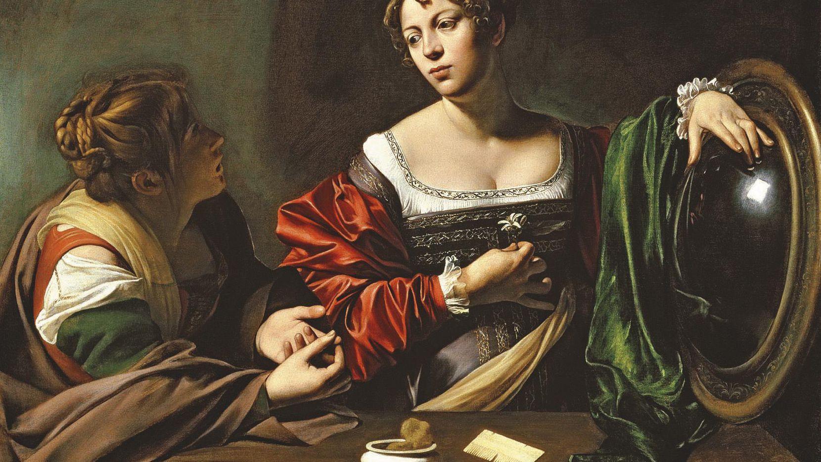 """La obra """"La Conversión de Magdalena"""" pintada entre 1597-97 por el maestro italiano Michelangelo Merisi da Caravaggio.(Detroit Institute of Arts)"""
