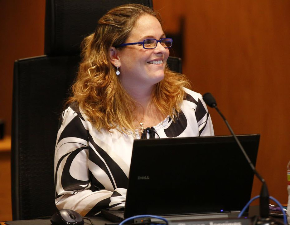 Irving City Secretary Shanae Jennings is seen in a public work session, Wednesday, February 6, 2013.