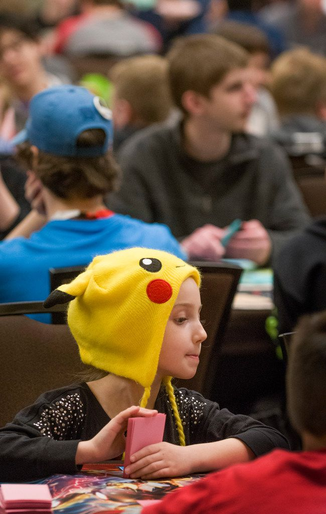 Seven-year-old Keira Kutscherousky from Waco is one of the 1,600-plus participants in the Pokemon Regional Championships.