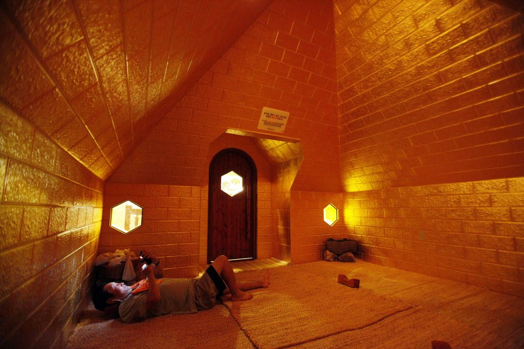 The Pyramid Room dry sauna inside King Spa, on Wednesday, Oct. 06, 2015 in Dallas. Ben Torres/Special Contributor