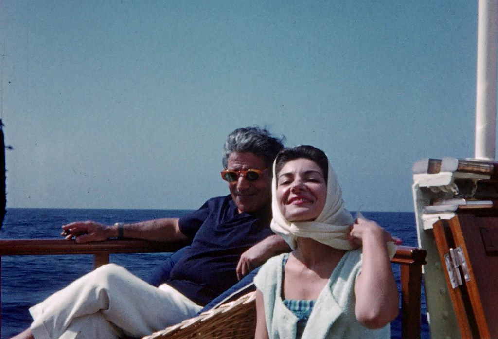 Aristotle Onassis with Maria Callas, from the documentary Maria by Callas: In Her Own Words.