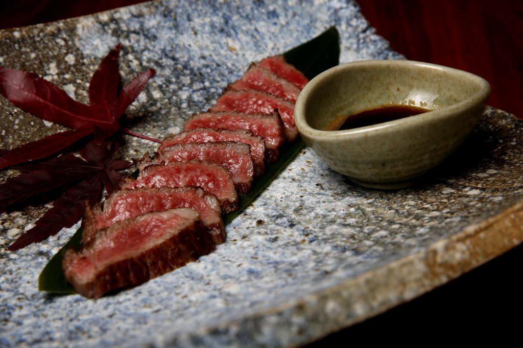 Miyazaki Wagyu beef grilled over binchotan at Teppo