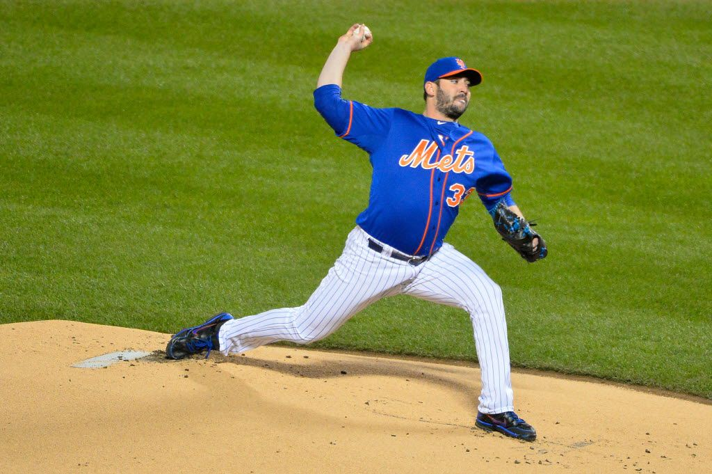 NEW YORK, NY - OCTOBER 17:  Matt Harvey #33 of the New York Mets pitches against the Chicago Cubs during game one of the 2015 MLB National League Championship Series at Citi Field on October 17, 2015 in the Flushing neighborhood of the Queens borough of New York City.  (Photo by Alex Goodlett/Getty Images)