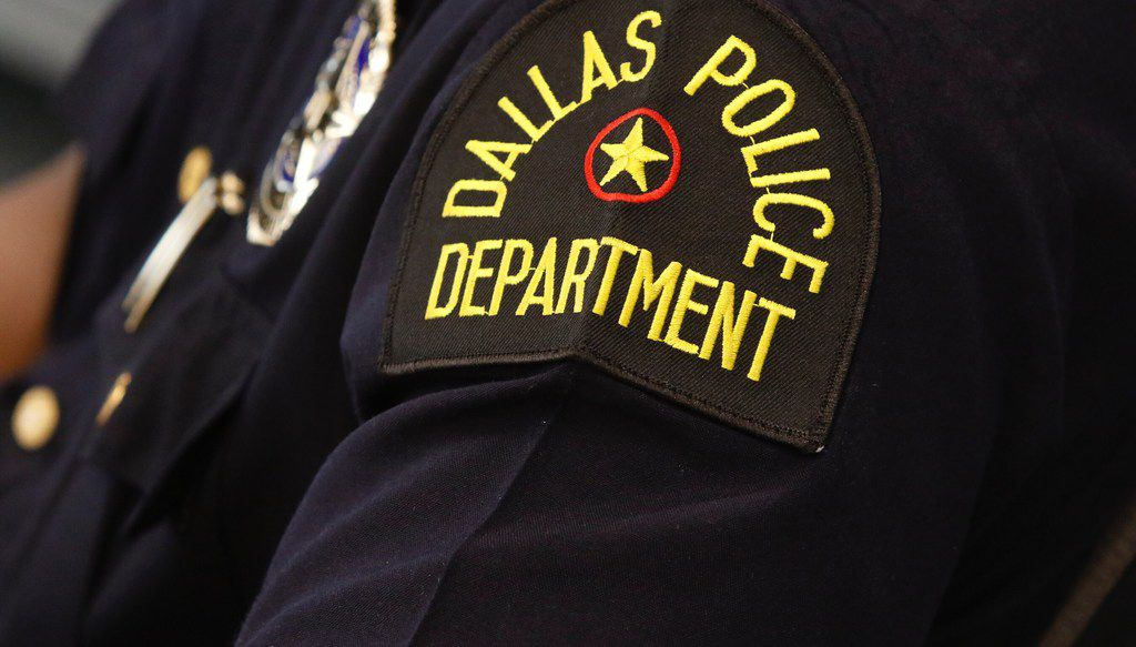 The Dallas Police patch on Friday, May 17, 2019 (Irwin Thompson/The Dallas Morning News)