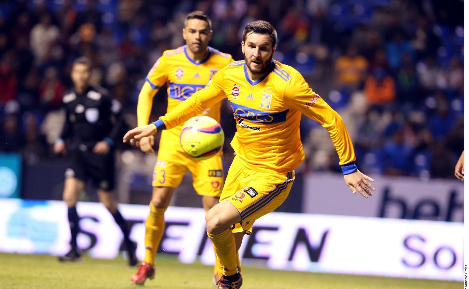 El delantero francés André-Pierre Gignac ha sido una constante goleadora en la delantera de Tigres.(AGENCIA REFORMA)