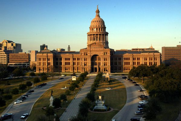 The Texas State Capitol building grounds