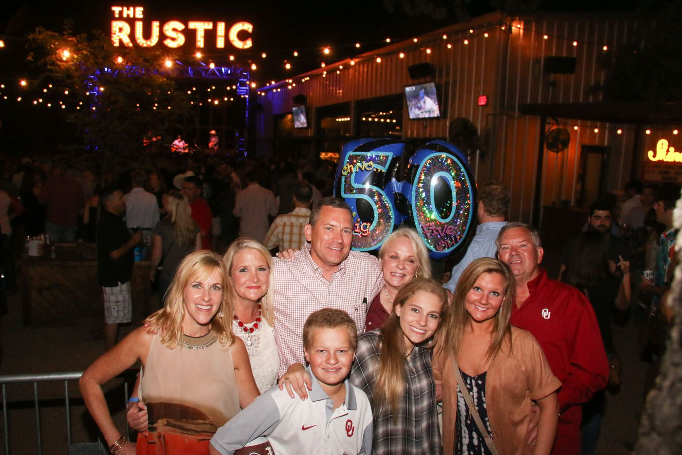 Lance Bailey (center) celebrated his 50th birthday with his family and friends at  the show.
