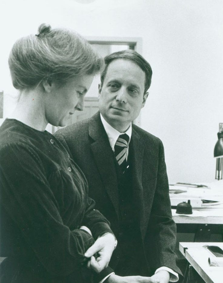 Robert Venturi and Denise Scott Brown, his wife and professional partner, in the late 1960s at their office in Philadelphia.