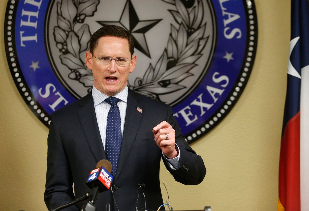 """Dallas County Judge Clay Jenkins has worked with Stephen Daniel for 15 years. He hailed his business partners' """"compassion, grit and tenacious spirit."""" (Vernon Bryant/The Dallas Morning News)"""