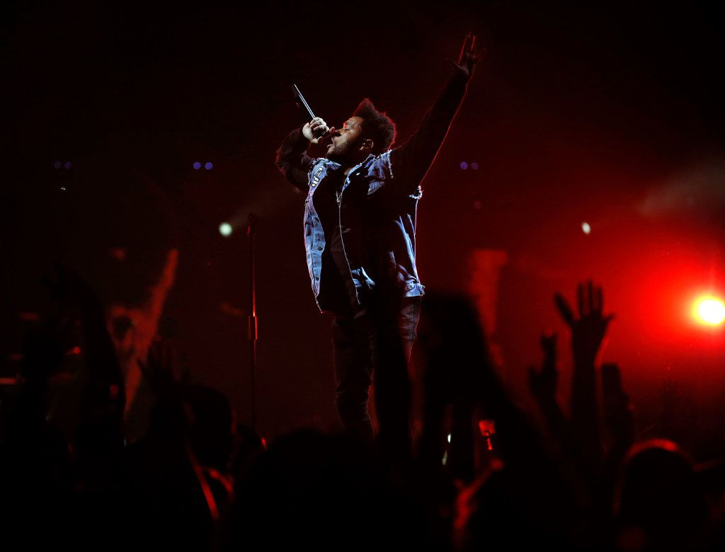 The Weeknd performs at the American Airlines Center in Dallas on Thursday, May 4, 2017. (Rose Baca/The Dallas Morning News)