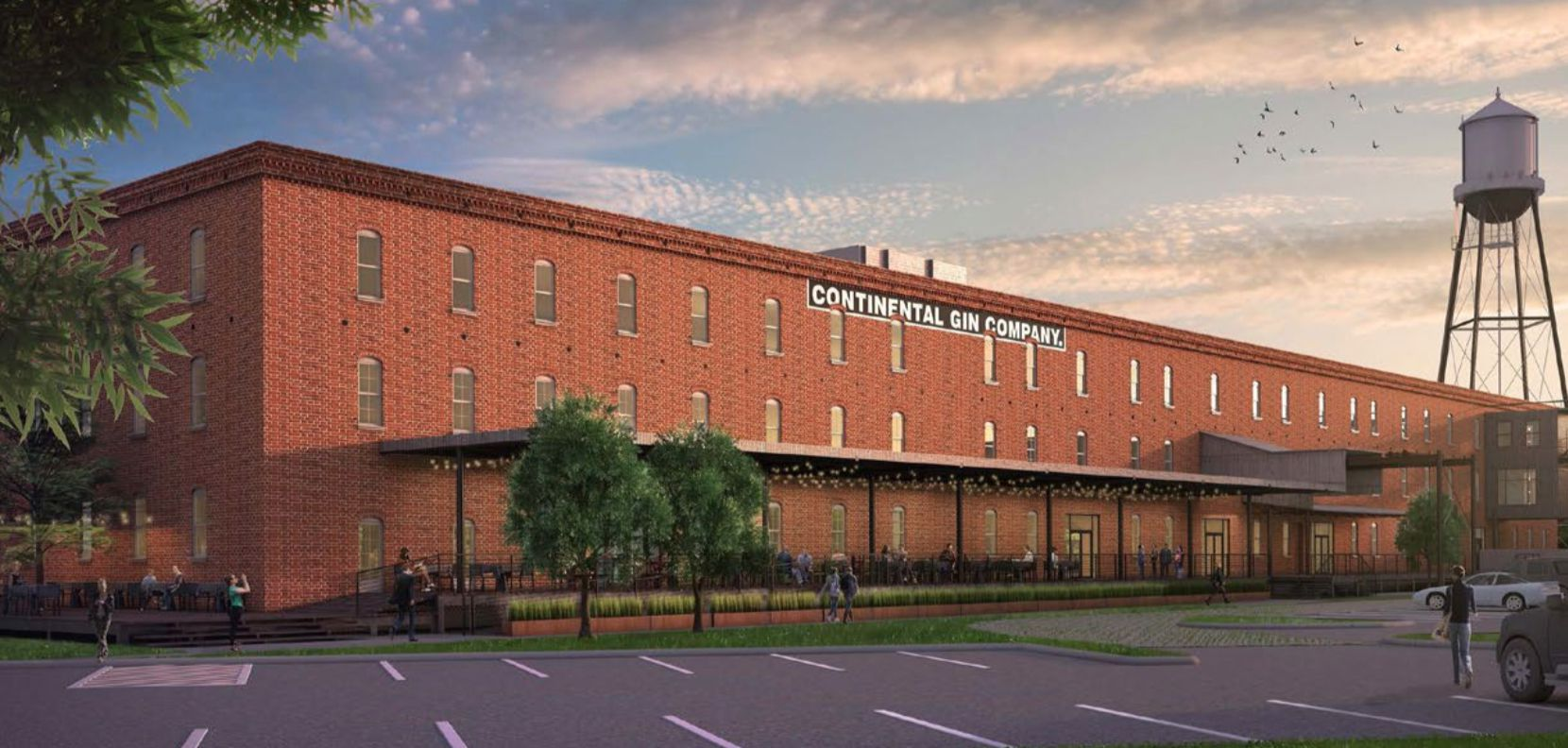 Redevelopment plans for the Continental Gin Co. building include office and retail space.