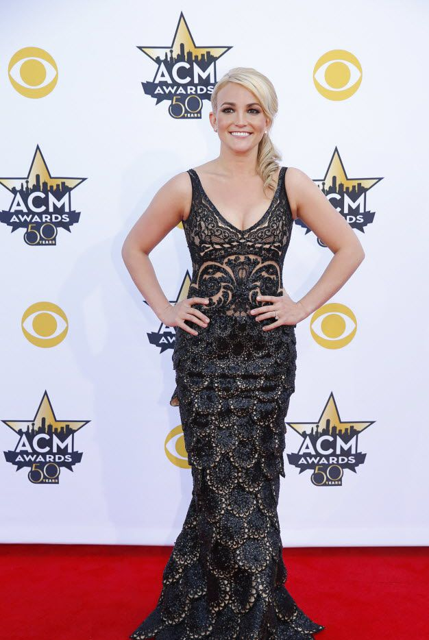 Jamie Lynn Spears on the red carpet before the 2015 Academy of Country Music Awards Sunday, April 19, 2015 at AT&T Stadium in Arlington, Texas.