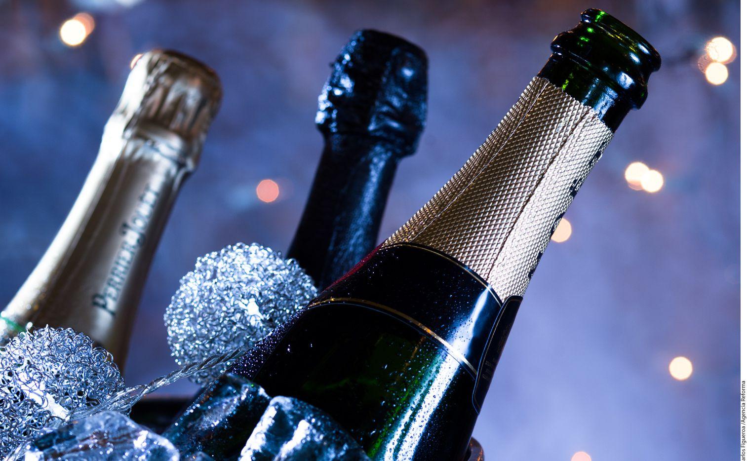 Se conoce como champaña a los vinos espumosos elaborados en la región de Champagne, en Francia. Hay varios estilos clasificados por color, por año de elaboración -millesimé y non vintage- y por nivel de dulzor./ AGENCIA REFORMA