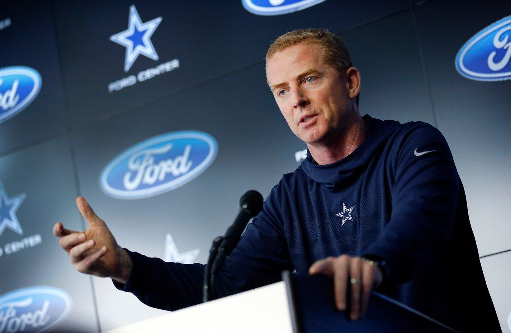 Dallas Cowboys head coach Jason Garrett delivers his season-ending press conference at The Star in Frisco, Texas, Monday, January 14, 2019 after losing to the Los Angeles Rams in the NFC Divisional game. (Tom Fox/The Dallas Morning News)