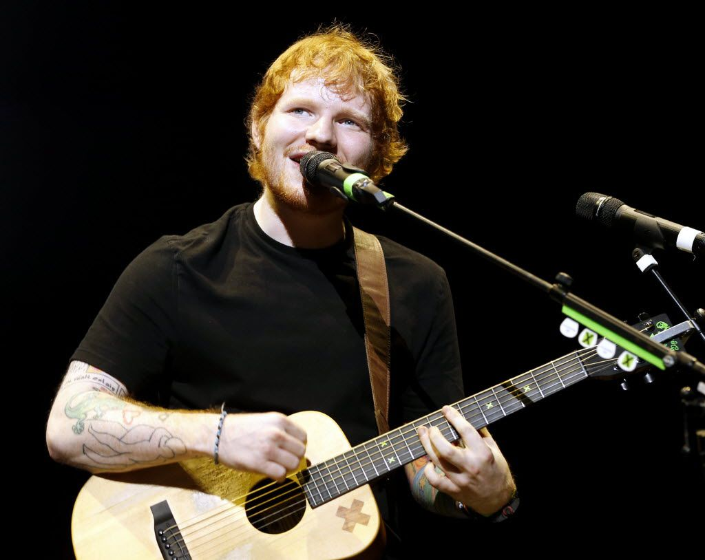 Ed Sheeran packed Verizon Theatre on Thursday night, accompanying himself throughout his set with only a guitar. (All photos by Vernon Bryant/The Dallas Morning News)