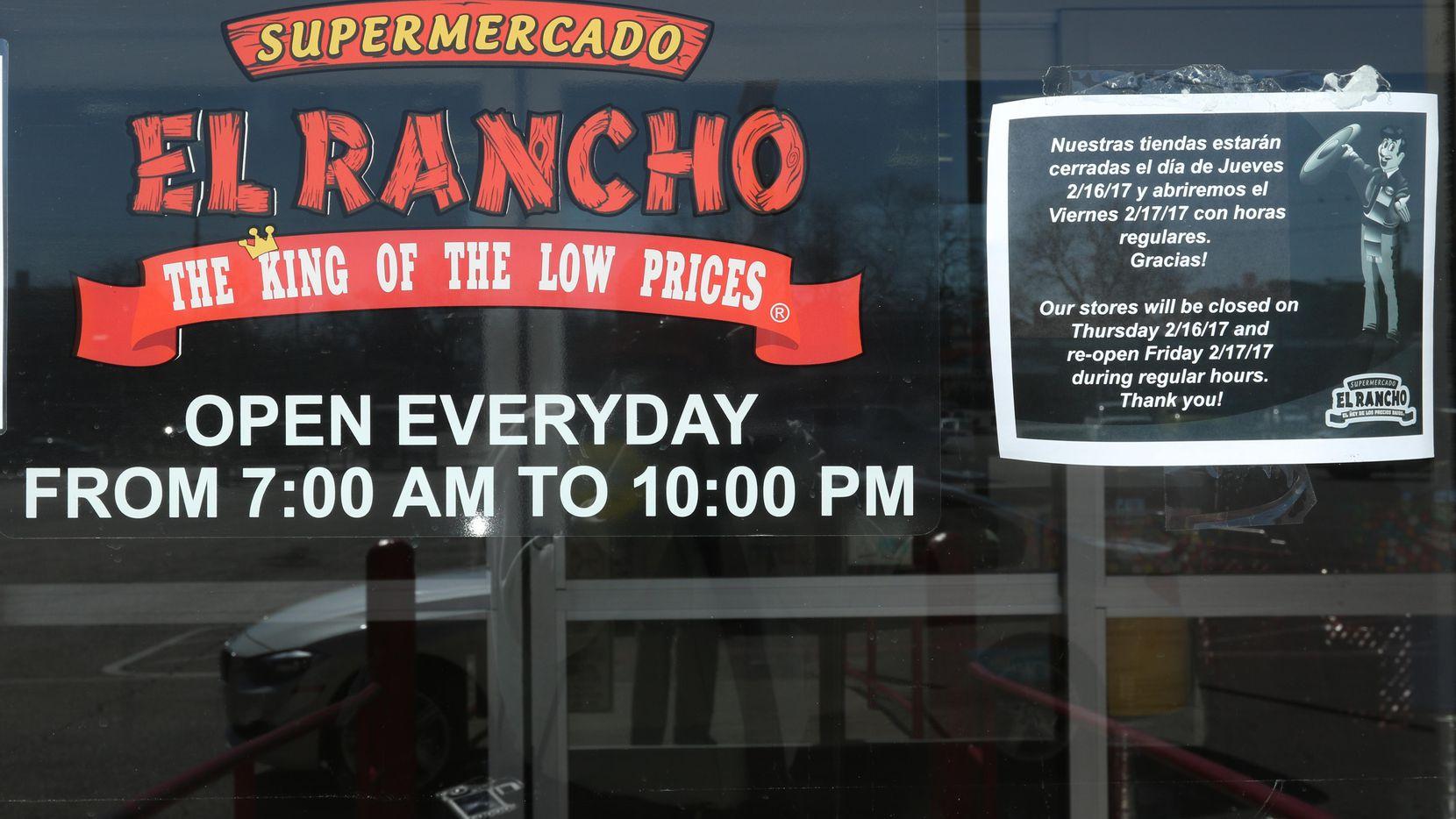 Una tienda de El Rancho en Gaston Avenue, en Dallas. Ahora El Rancho será parte de Albertsons.s) (DMN/IRWIN THOMPSON)