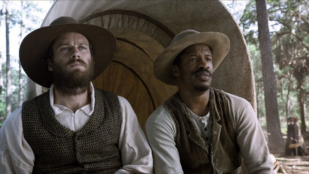 """Armie Hammer, left, and Nate Parker appear in """"The Birth of a Nation,"""" in theaters on Oct. 7."""