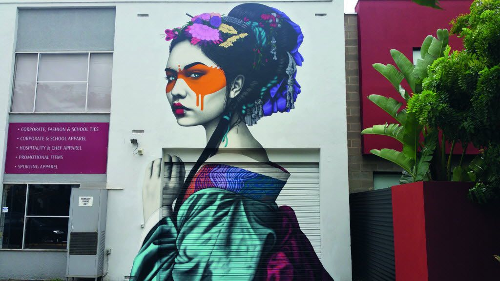 Little Rundle Street, Kent Town, Adelaide, Australia, by FinDAC in Lonely Planet's 'Street Art' book.