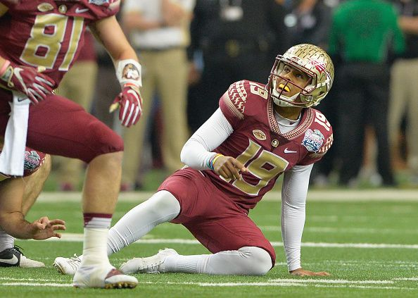 Roberto Aguayo, pateador de Florida State. Fotos GETTY IMAGES