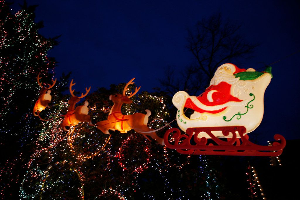 """Christmas lights and decorations at the home of Liz Simmons, at 714 Newell Ave in Dallas on Dec. 16, 2018. The extravagant Christmas display, called """"Electric Lizzy Land"""" will be on display through the end of the year.(Michael Ainsworth/Special Contributor)"""