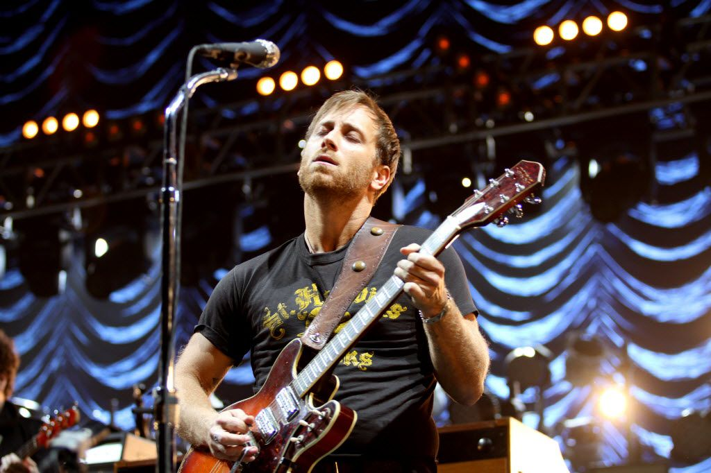 Black Keys lead singer Dan Auerbach, seen here performing in Dallas in 2014, is touring in support of his latest solo album, Waiting on a Song.