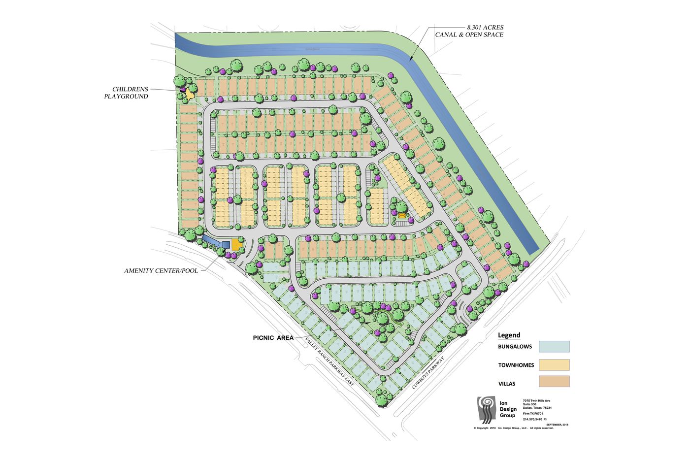 The Legends Crossing community will include about 10 acres of open space and about 230 homes.