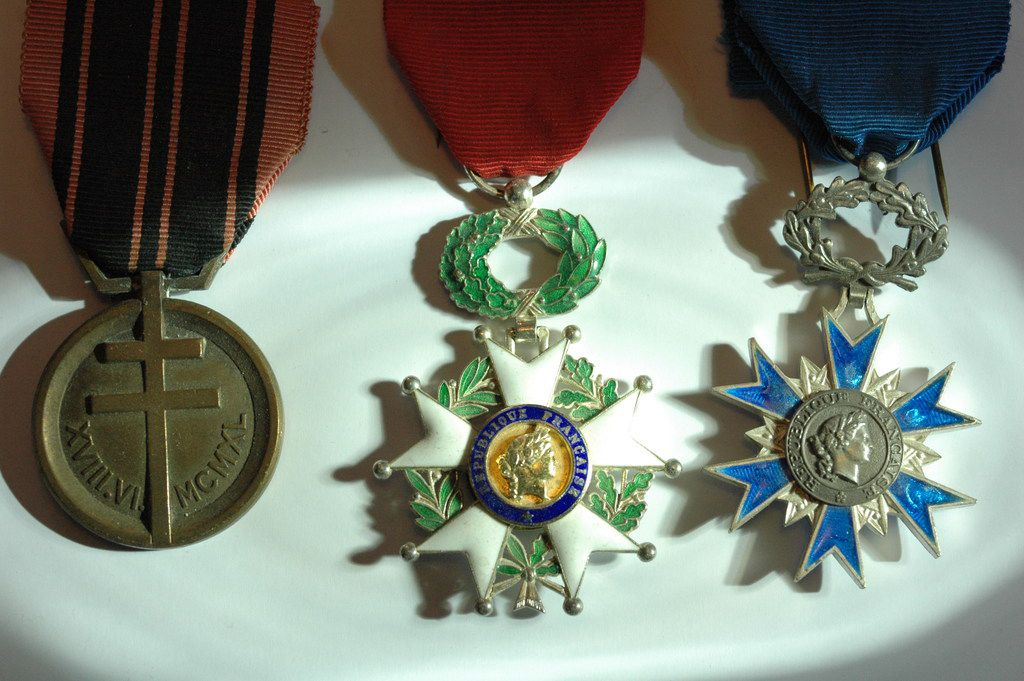 Some of the medals won by Robert de la Rochefoucauld