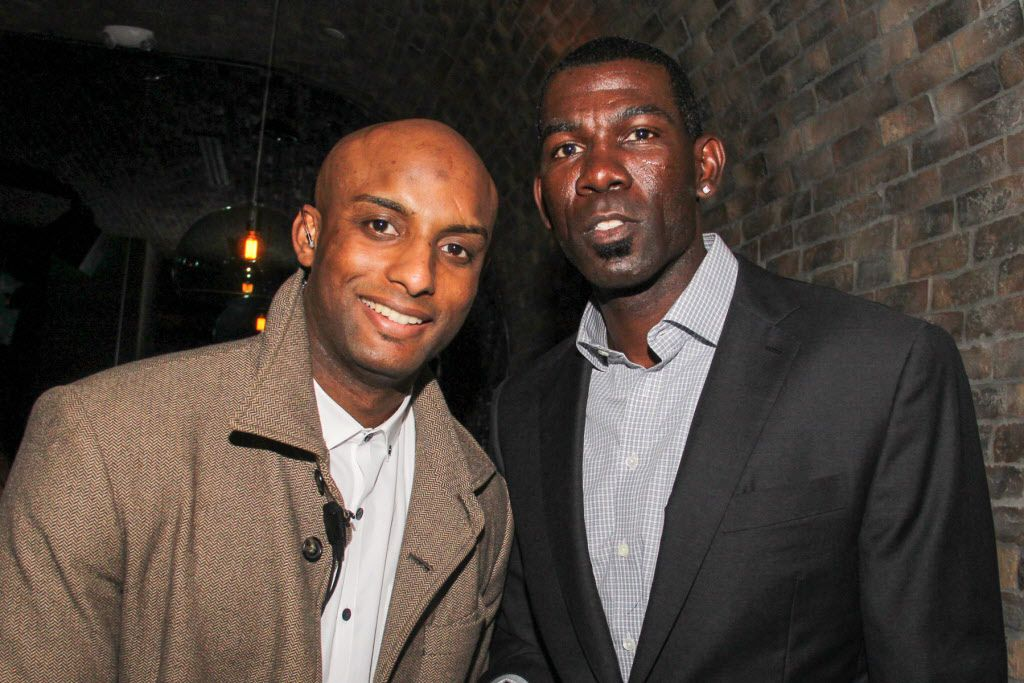 Kent Washington and former Mavs player Michael Finley  attended  the Welcome To Dallas  party for new Mavericks addition Amar'e Stoudemire on March 10 at the Grotto Bar at Sfuzzi in Uptown.