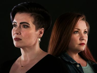 Two North Texas-based anime voice actors, Monica Rial (left) and Jamie Marchi, are among the defendants named in a defamation lawsuit brought by Grapevine resident and fellow voice actor Vic Mignogna.