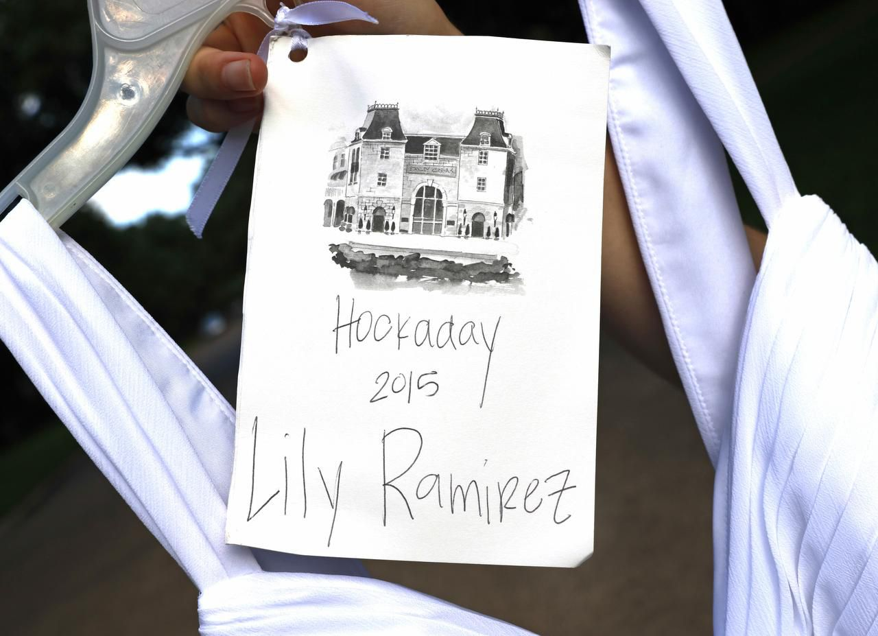 The graduation dress  came with Lily Ramirez's name on it, but she was among those seeking alternatives. She said Hockaday headmistress Kim Wargo seemed sympathetic but did not support the change. Wargo has since resigned.