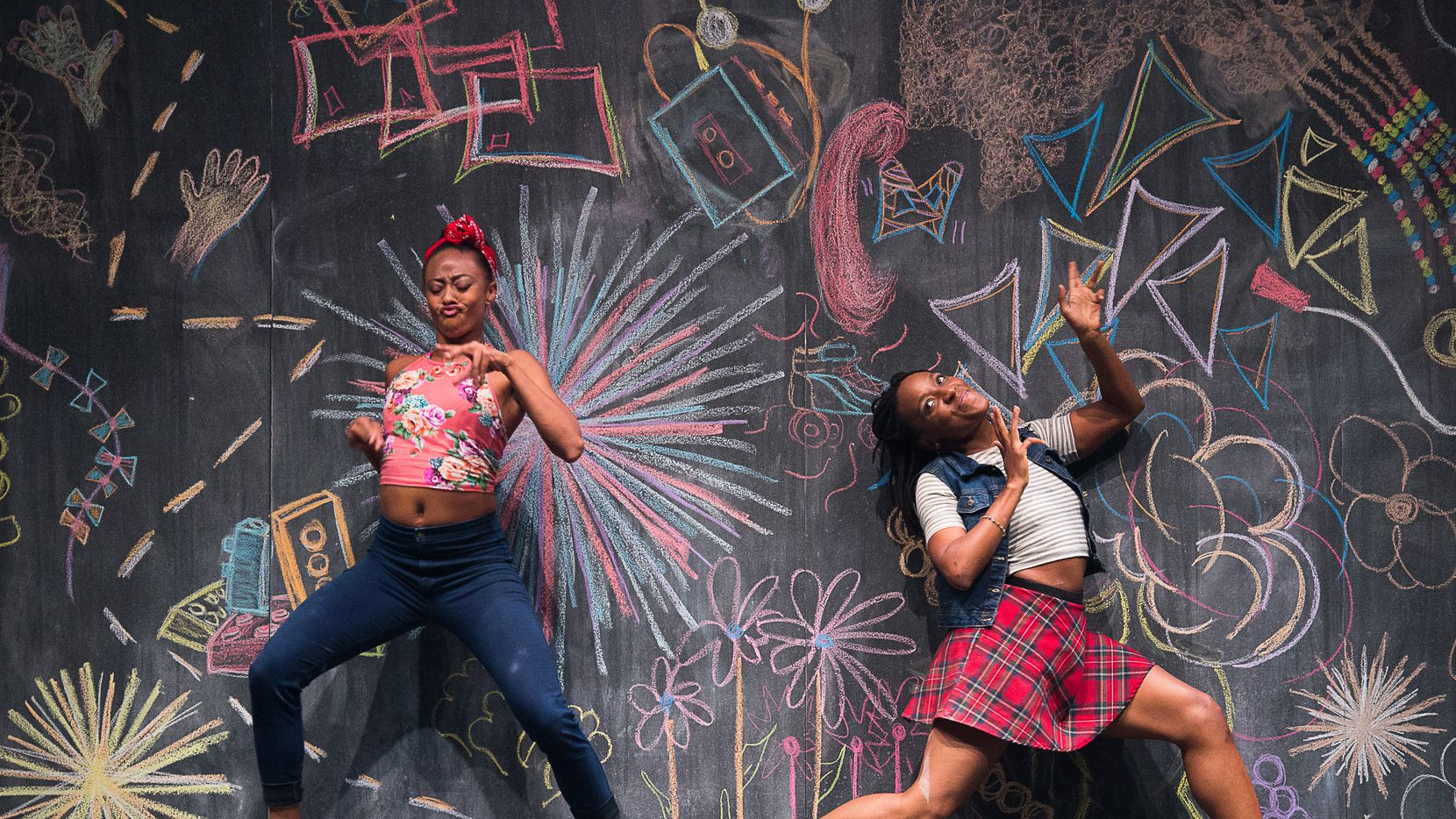 Fana Fraser and Beatrice Capote of Camille A. Brown & Dancers in the choreographer's BLACK GIRL: Linguistic Play, opening the TITAS season in August.