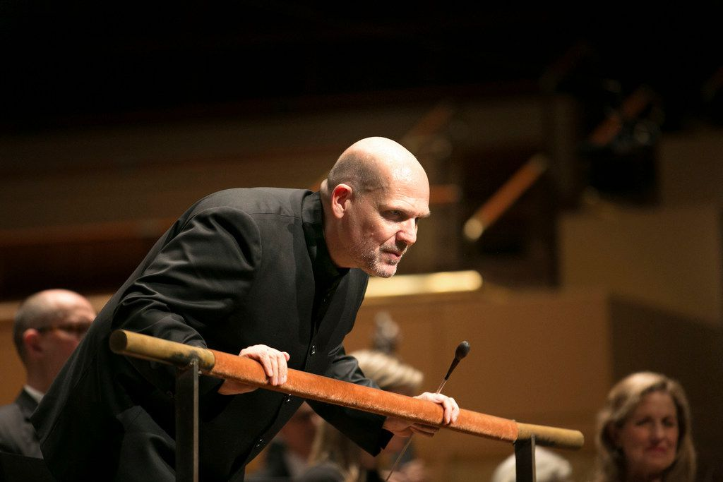 Conductor Jaap van Zweden takes a bow after a 2017 performance.