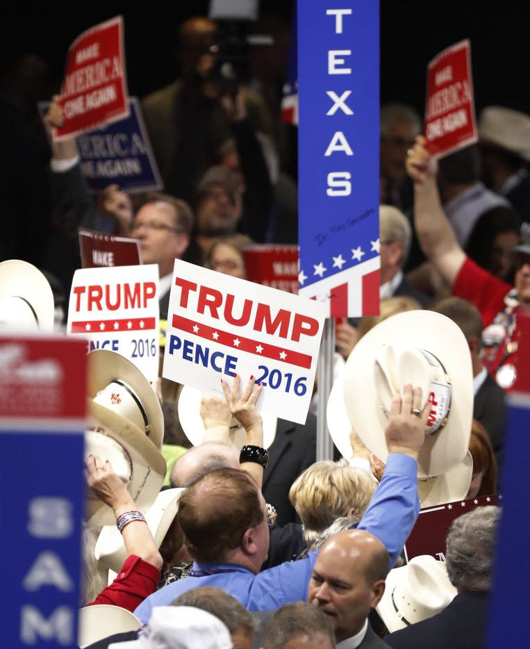 Donald Trump's supporters among Texas Republican officials are sticking with him, so far.