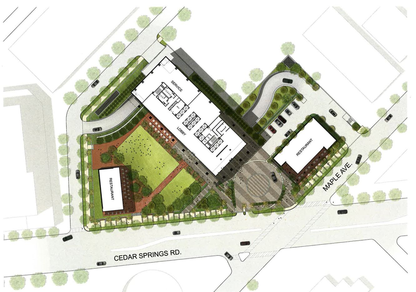 The developers say they would build on only 50 percent of the more than 2-acre property.