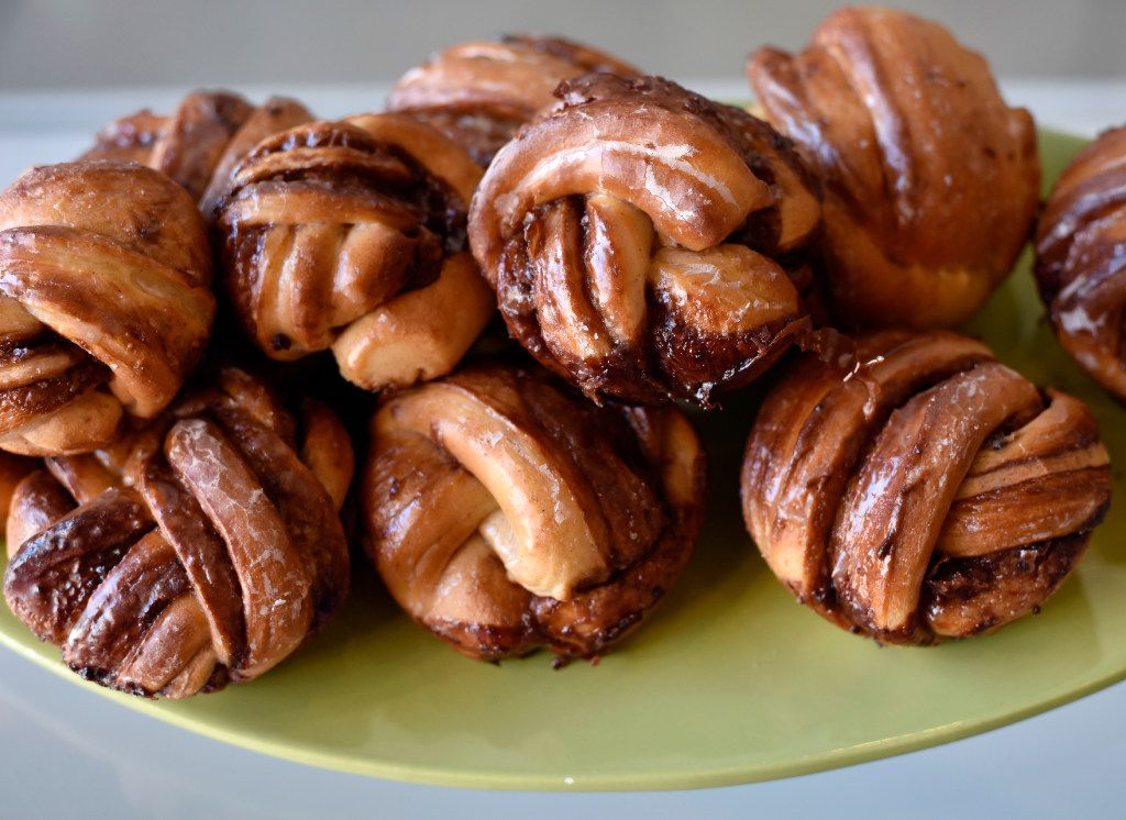 Babka muffins from Glazed Donut Works, during a revealing of their new donuts, on Wednesday, Nov. 16, 2016 in Dallas.