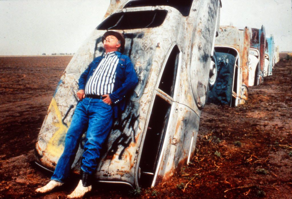 """PUBLISHED June 21, 1984 with this caption: Stanley Marsh 3, home on the range: """"Take Cadillac Ranch.  It's not for people who know about it.  It's for the guy who is driving in from Tucumcari."""""""