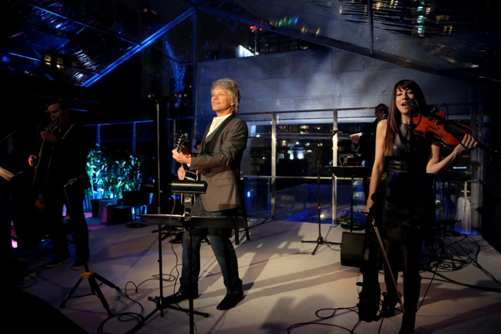 Jon Bon Jovi performed at the Joule on Thursday, Feb. 28 at the Texas launch party of Hampton Water Rose wine, which he owns with son Jesse Bongiovi.