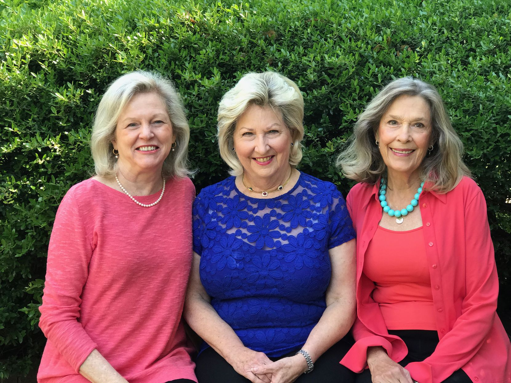 Texas Discovery Gardens will present the Flora Award to three former board members of the group: (from left) Marilyn Waisanen, Bettye Slaven and Janet Smith.