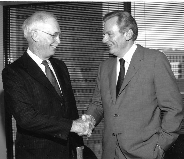 Lamar Muse, left, and Herb Kelleher, right, have played key roles in the history of Southwest Airlines. Do you know what those roles were?