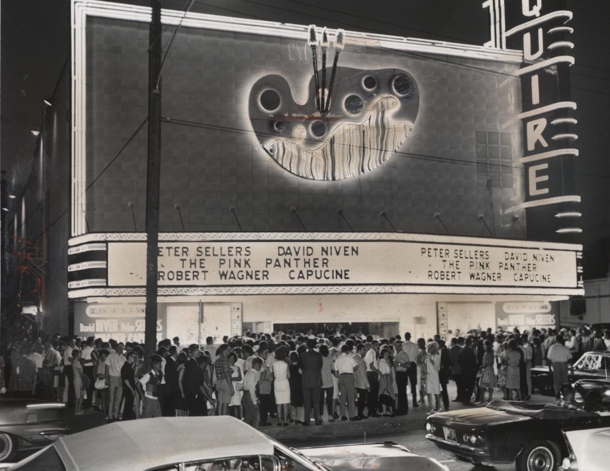 The landmark Esquire Theater was demolished in the 1980s for a parking lot.