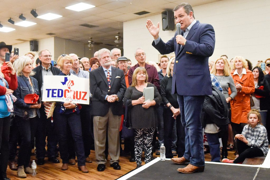 """Sen. Ted Cruz has accused Rep. Beto O'Rourke of lacking legislative achievements, saying the Democrat has """"scored political points rather than accomplishing victories for the people of Texas."""" (Chelsea Purgahn/Tyler Morning Telegraph via AP)"""