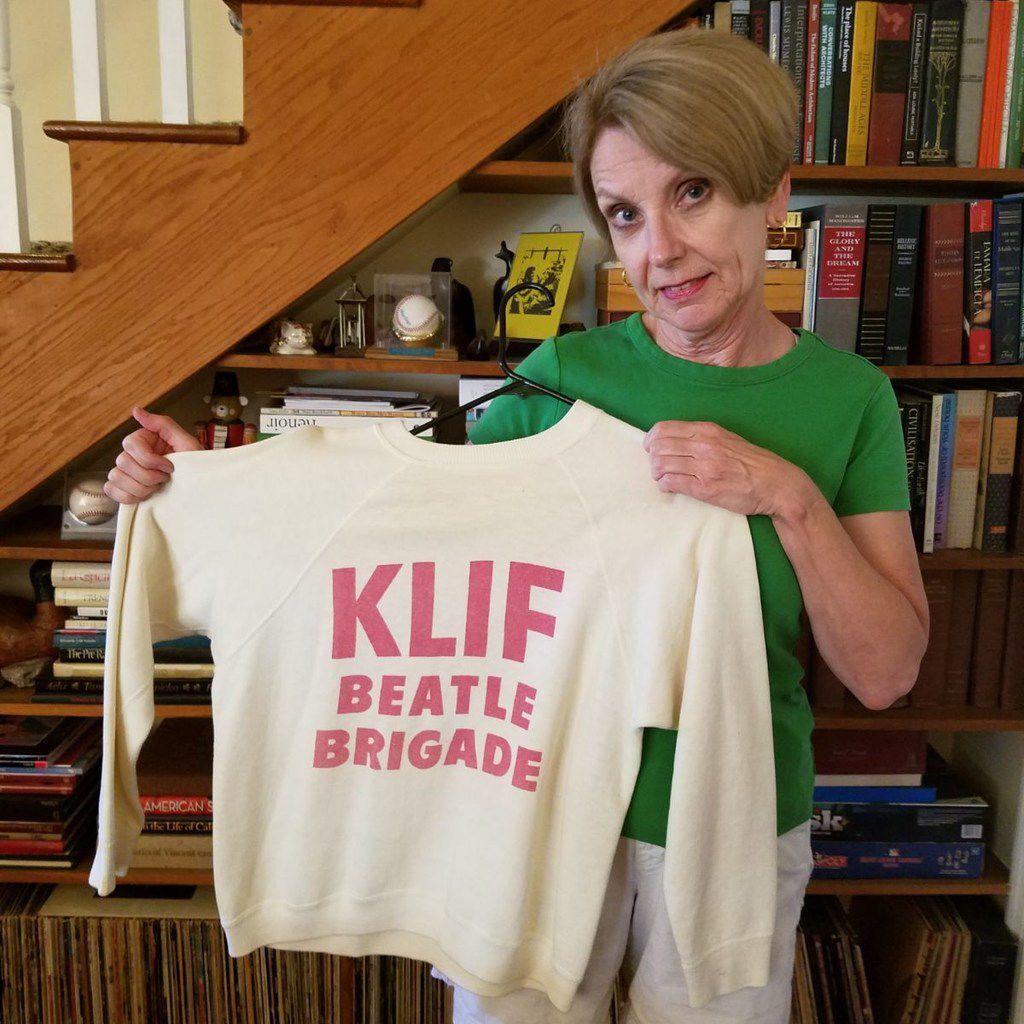 Pattie Davidson still has her  KLIF Beatle Brigade  sweatshirt from the mid-1960s.