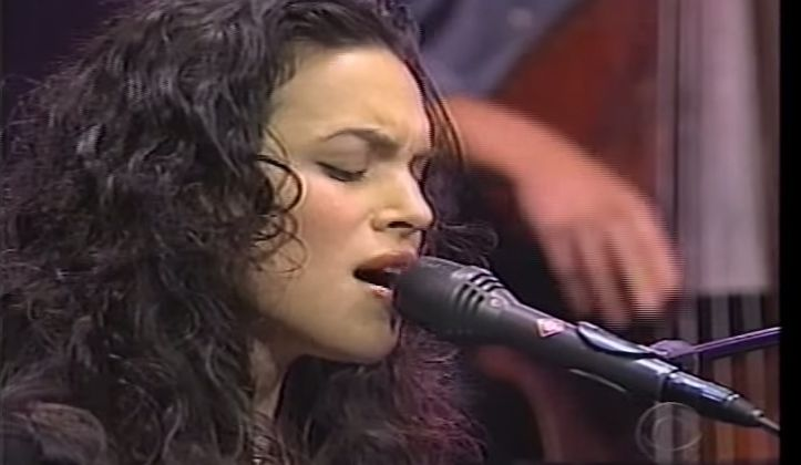Norah Jones first appeared on David Letterman's stage on May 6, 2002.