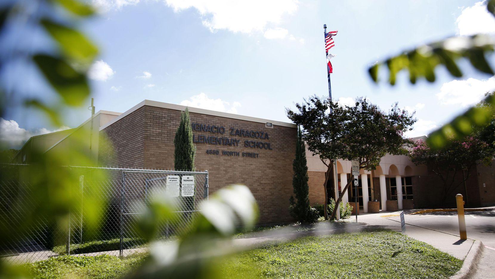 La primaria Ignacia Zaragoza está en la lista de las escuelas que podrían cerrarse. (DMN/ROSE BACA)
